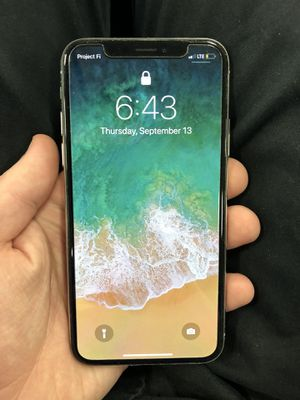T-Mobile iPhone X silver 64gb for Sale in Fort Meade, MD