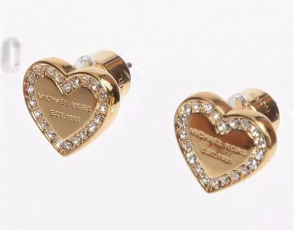 a1cc9ea6aa70 MICHAEL KORS GOLD SILVER ROSE GOLD CRYSTAL HEART or GOLD ROUND EARRINGS  STUDS