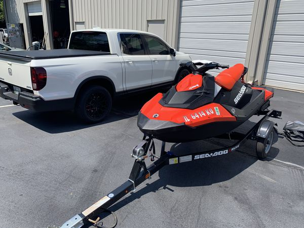 2016 3up 90 hp seadoo spark with ibr and many extras with low hours