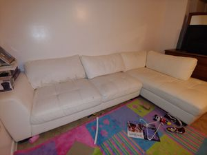 Free leather sectional pending pickup for Sale in Manassas, VA