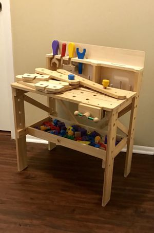 Treehaus Wood Workbench - with Tools, Vice, Building Boards and more for Sale in Longwood, FL