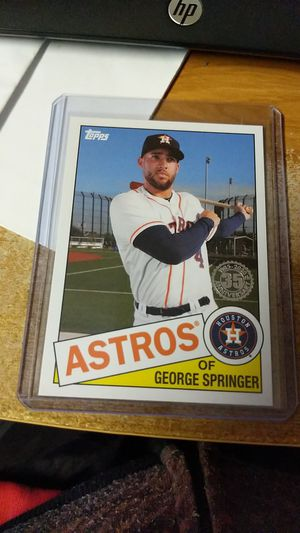 Photo 2020 Topps Series 1 35th anniversary George Springer and Alex Bregman SP cards