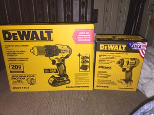 BRAND NEW Dewalt 20V Impact driver&20V Drill/Driver Brushless - lithium ion- +2 batteries&charger BRAND NEW for Sale in Casselberry, FL
