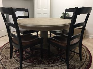 Round dining table with 4 chairs for Sale in Silver Spring, MD