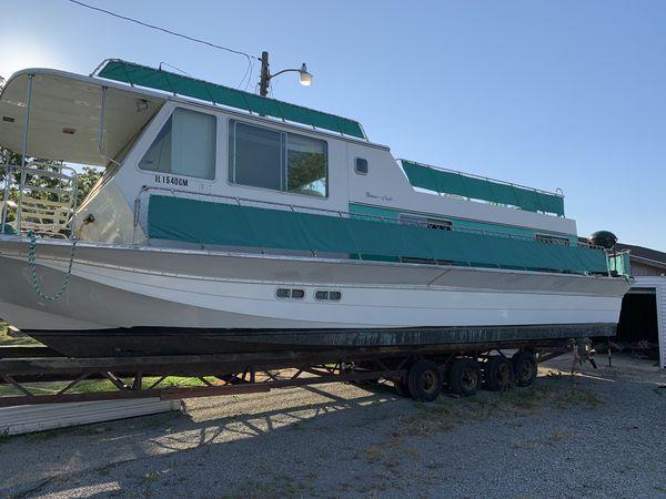 1971 burnscraft houseboat 44ft