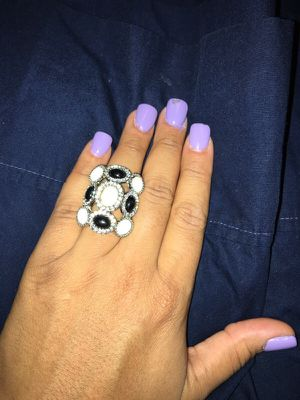Pretty black and white ring for Sale in Nashville, TN