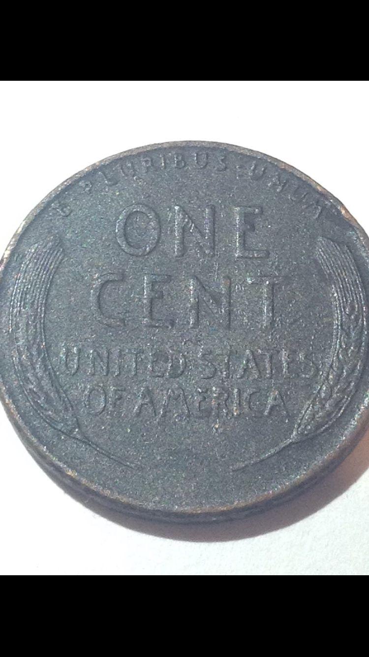 Rare Charcoal Black (Ruthenium coated?) Wheat penny