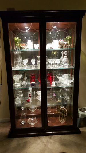 Antique Wood And Gl Light Up China Cabinet For In Factoryville Pa