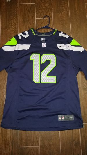 Authentic NFL Jersey Seattle Seahawks 12th Man for Sale in Aurora, IL