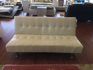 White Futon Sofa On Payments For In Charlotte Nc