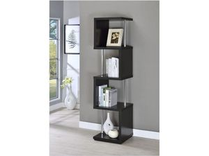 BLACK AND CHROME BOOKCASE for Sale in Medley, FL
