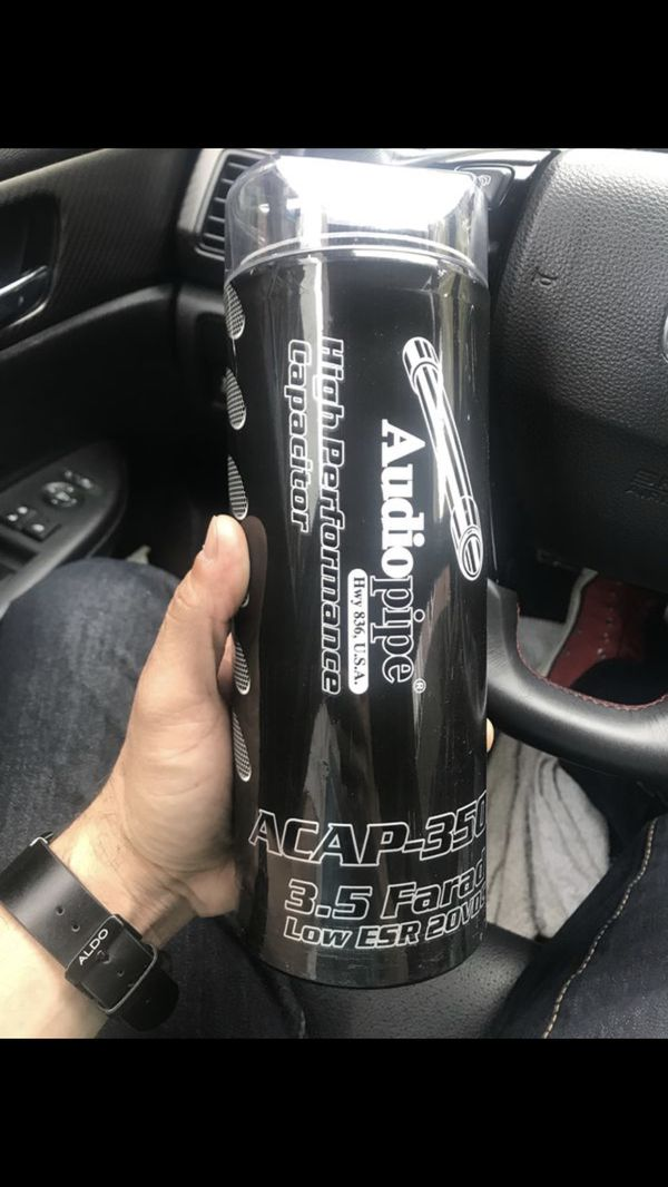 Audiopipe high performance capacitor 3 5 farad like brand new !!! for Sale  in Brooklyn, NY - OfferUp