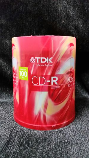 Tdk cd-r pack of 100 for Sale in Portland, OR