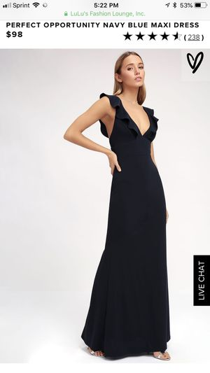 Lulu's perfect opportunity maxi dress, bridesmaid, prom for Sale in Orlando, FL