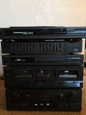 Technics 6 piece stereo system including two large three way speakers for  Sale in Santa Cruz, CA - OfferUp