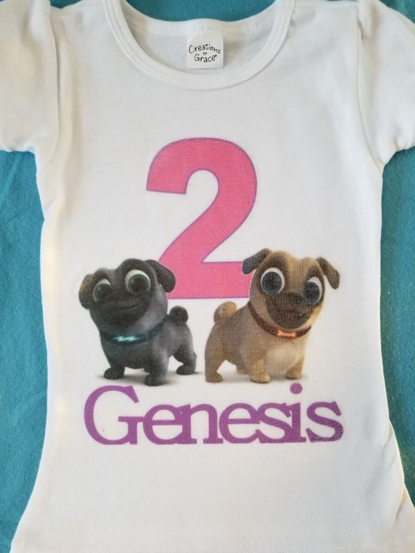 Puppy Pals Birthday Shirt Pink For Sale In Perris CA