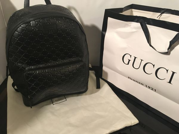909000d29b9 Gucci Signature Leather Backpack for Sale in Atherton