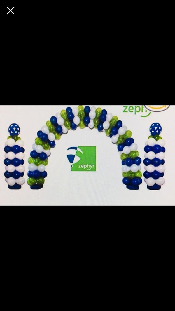 Zephyr balloon arch set new\open box for Sale in Wilmington, MA - OfferUp
