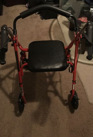 Adult Walker with wheels and hand brakes and comes with seat (New) Folds up for easy storage for Sale in Washington, DC