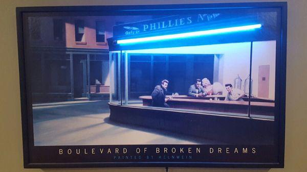 Neon Boulevard Of Broken Dreams Painted By Helnwein For Sale In