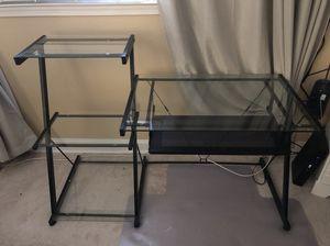 Glass computer desk for Sale in Fairfax, VA