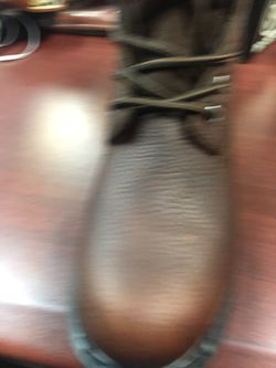 Zapato de piel para el trabajo color café Thumbnail