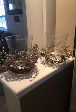 Glass candle holders for Sale in Arlington, VA