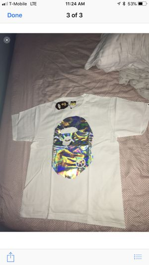 Hologram a bathing Ape T-shirt size M color white for Sale in Alexandria, VA