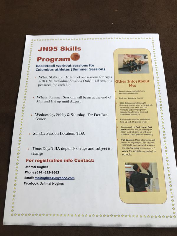 JH95 Skills Program- Basketball Clinics for Sale in Whitehall, OH - OfferUp