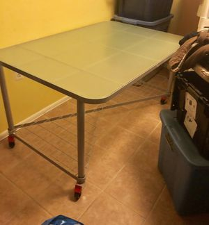 Large glass table for Sale in Gaithersburg, MD