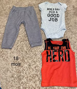 Photo 18 and 24 mos old baby boy clothes