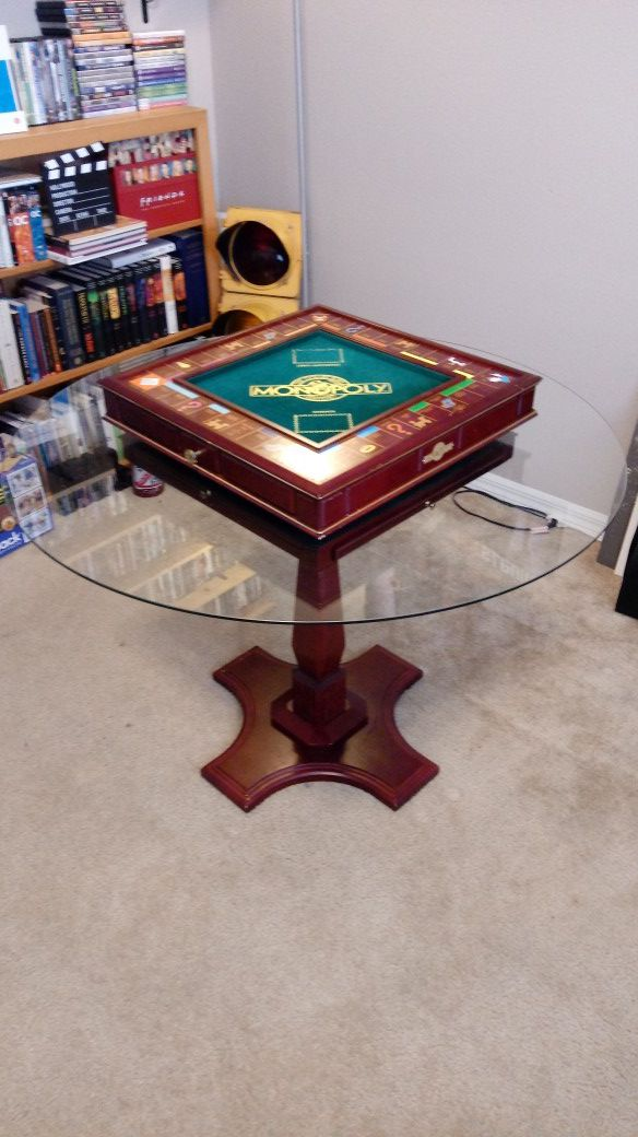 Monopoly Franklin Mint Collectors Edition Luxury Wooden Board Game With Stand Glass Table Top Lazy Susan For Sale In Lake Mary Fl Offerup