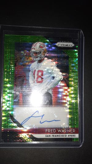 Photo Green pulsar Rookie autograph Fred Warner.. Go 49ers!!!!