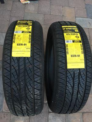 195 60 16 set of 2 tires new dunlop direzza sport for Sale in Manassas, VA