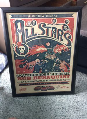 Signed Bob Burnquist poster for Sale in Cleveland, OH