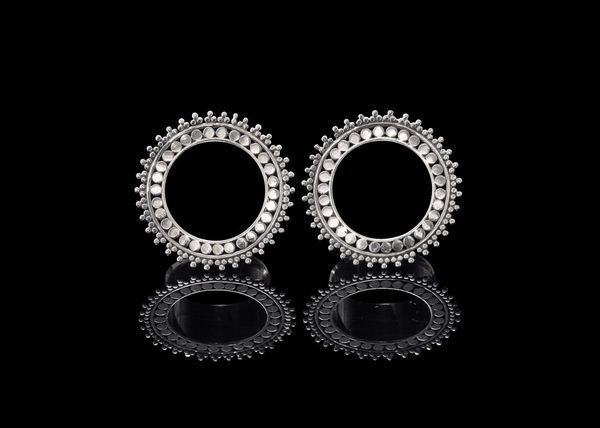 Tawapa Sterling Silver Afghan Plugs 22 Mm 7 8 Eyelets Tunnels Stretched Ears Body Modification