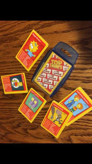Photo The Simpsons Top Trumps collectible competitive compulsive Card Game