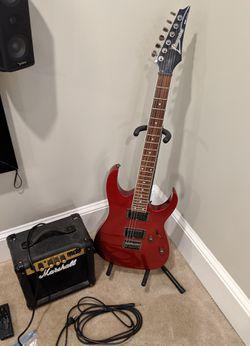 WTS Ibanez guitar, Marshall amp, bag & extras Thumbnail