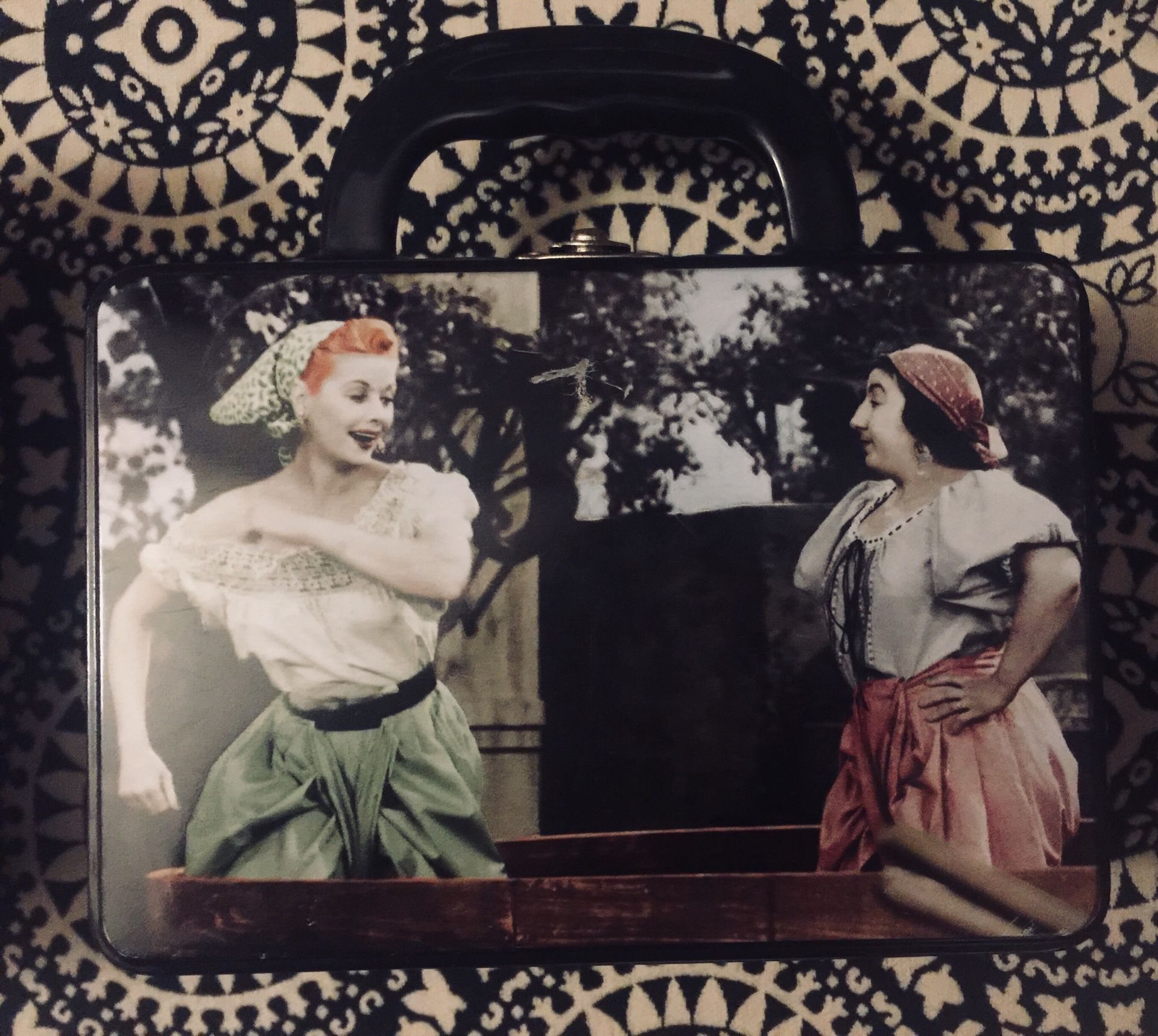 I Love Lucy lunch box. (About 3/4 size of regular metal lunch boxes)