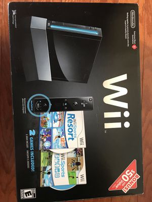 Nintendo Wii With Wii Sports + Wii Sports Resort Black Console for Sale in Ashburn, VA