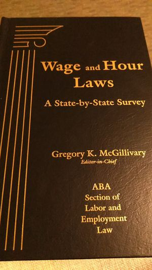 Wage and Hour Laws - A State by State Survey for Sale in Boston, MA