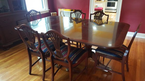 Dining Room Chairs Kansas City vintage duncan phyfe dining table with 6 chairs (furniture) in