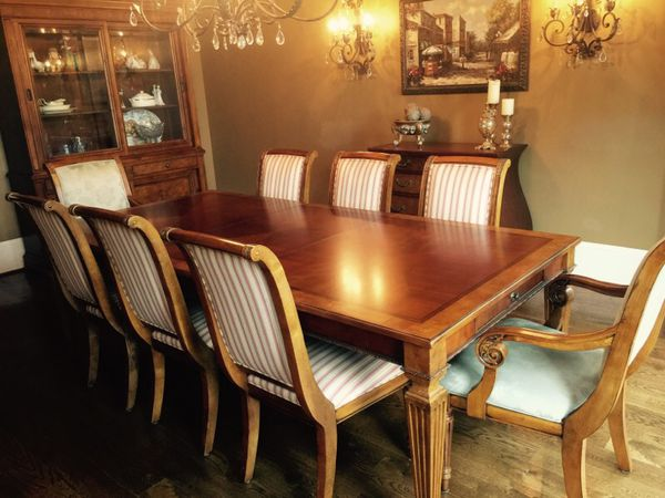 Ethan Allen Goodwin Dining Table Adison Chairs