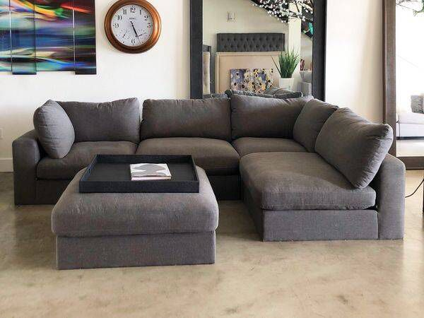 4 Piece Cloud Modular Sectional Sofa Couch Used For Home