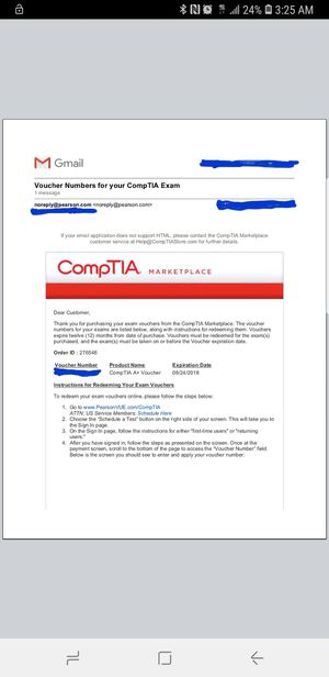 Comptia A+ 220-901 Exam Voucher for Sale in Houston, TX