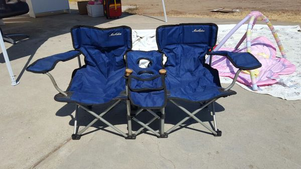 Astonishing Maccabee Childrens Double Folding Camp Chair For Sale In Caraccident5 Cool Chair Designs And Ideas Caraccident5Info
