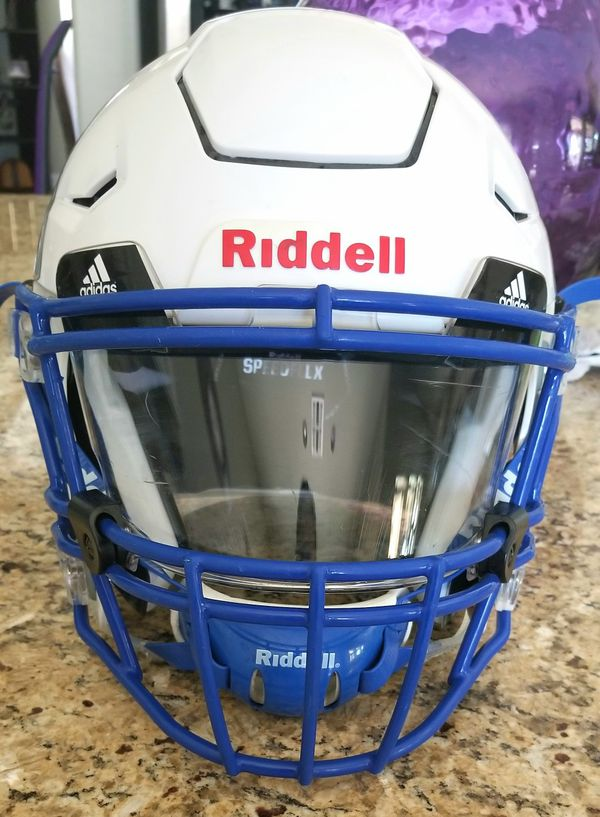f534c391 Riddell Speed Flex with Visor, Facemask and upgraded Chin strap for ...