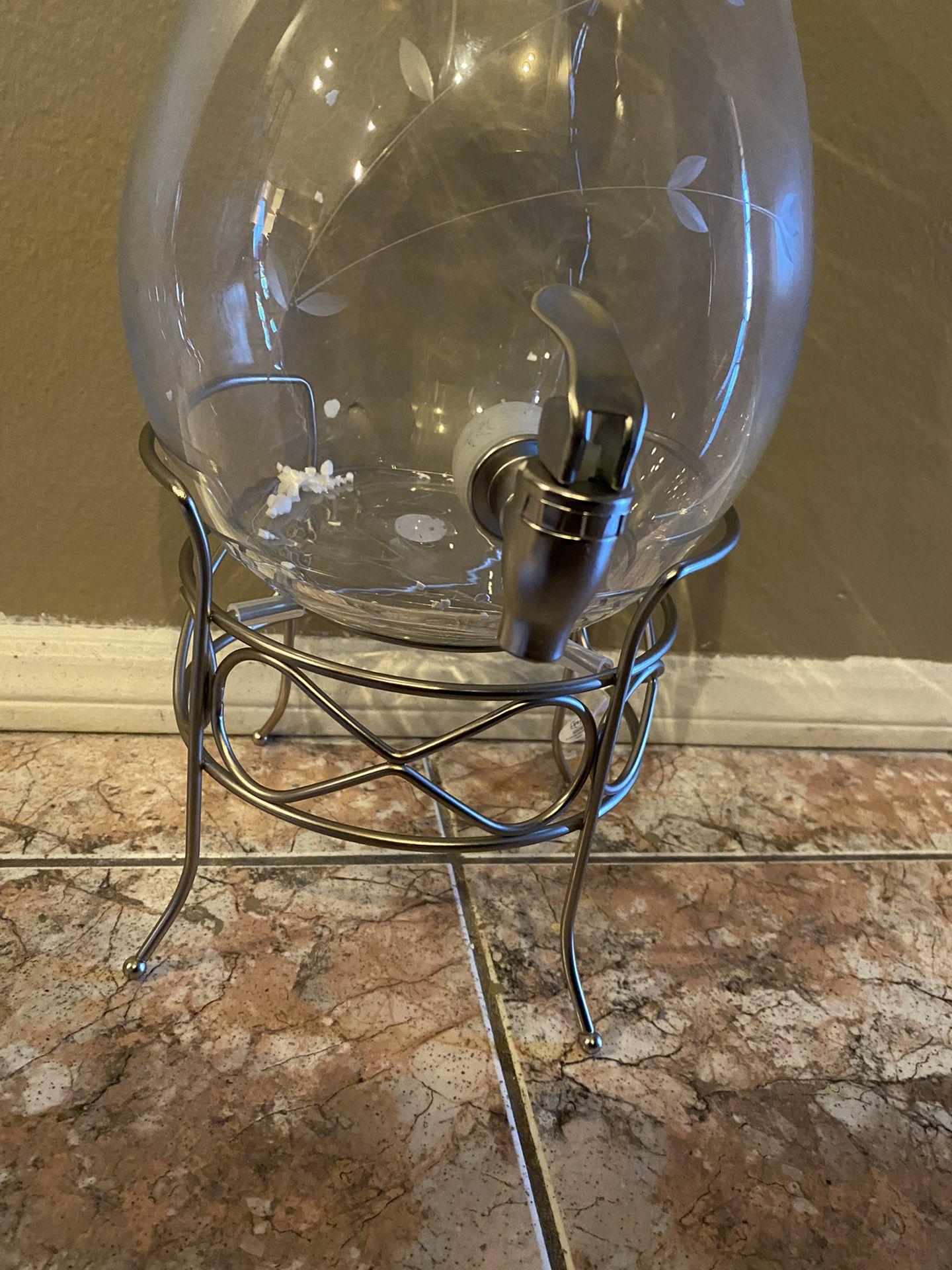 Princess House Dispensador De Agua Fresca Con Vase De Metal