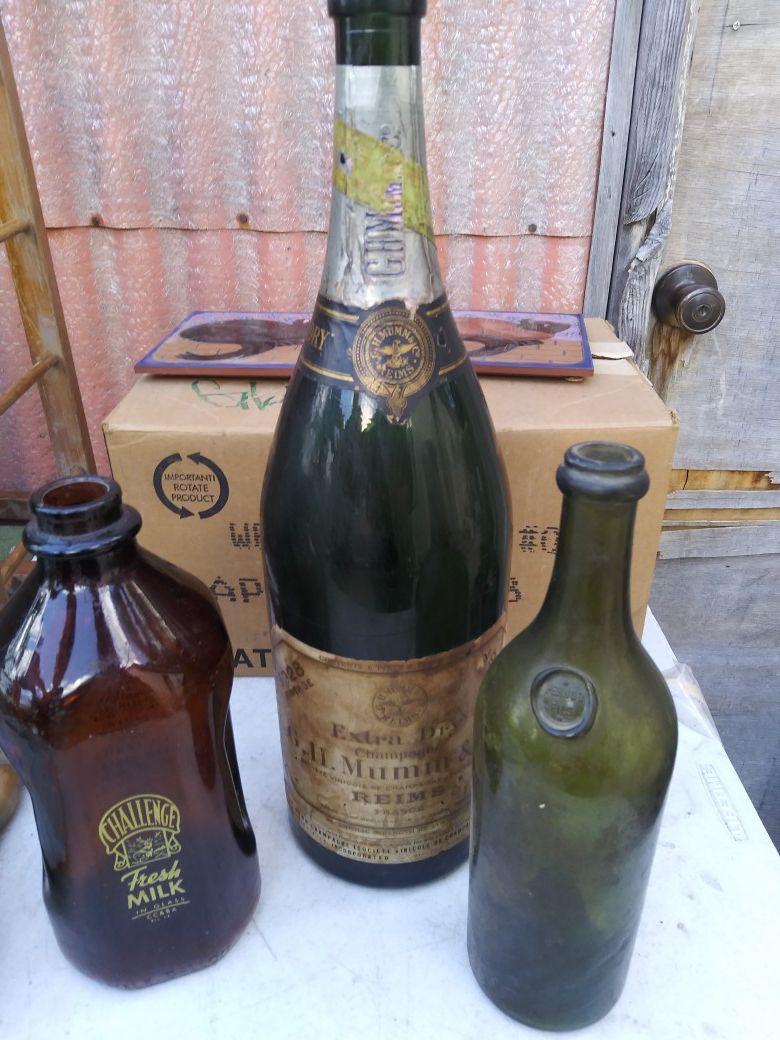 Beautiful vintage glass bottles