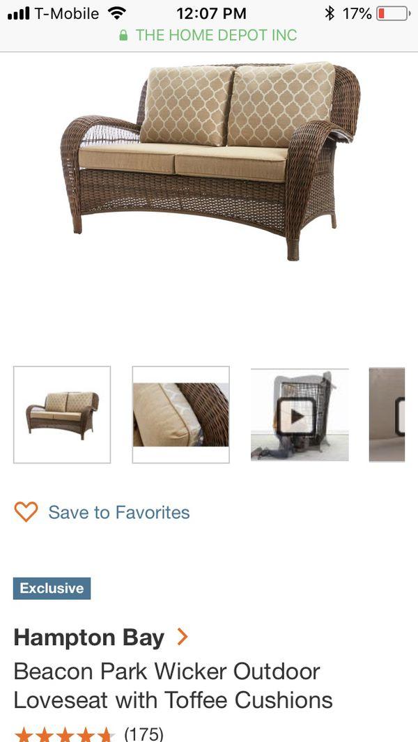 Astonishing Brand New Hampton Bay Wicker Outdoor Love Seat For Sale In Glendale Az Offerup Forskolin Free Trial Chair Design Images Forskolin Free Trialorg